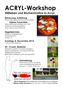 Acryl-Workshop mit Sabine Poluschkin